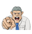 bullying boss shouting and pointing vector image vector image