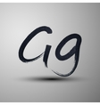 calligraphic hand-drawn marker or ink letter G vector image