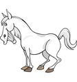 Cartoon Gray Horse vector image vector image