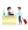 cartoon style of hotel reception vector image