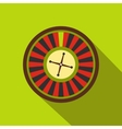Casino symbol roulette flat icon vector image vector image