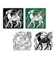 Celtic deer vector image vector image