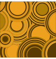 Circles yellow color abstract background vector image vector image