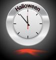 Clock red arrow specifies in a word Halloween