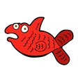 comic cartoon fish vector image vector image