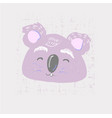 cute coala face childish print for nursery kids vector image vector image