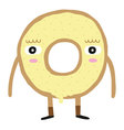 Cute Donut Character vector image