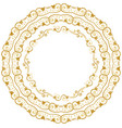 decorative floral circles vector image vector image