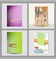 design cover book brochure layout flyer poster vector image