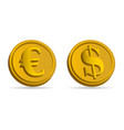 dollar and euro money 3d icon vector image