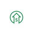 dollar increase icon money symbol with arrow vector image vector image