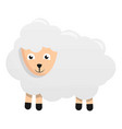 domestic sheep icon cartoon style vector image