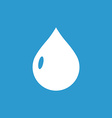 drop icon white on the blue background vector image vector image