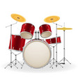 drum set kit musical instruments stock vector image
