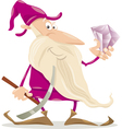 dwarf with diamond cartoon vector image vector image