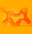 dynamic textured orange background design vector image vector image