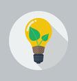 Eco Flat Icon Green energy vector image