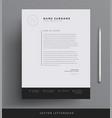 elegant letterhead template design in minimalist vector image vector image