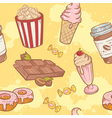 Fastfood sweets delicious seamless pattern vector image vector image