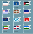 Flags set four-18 vector image vector image