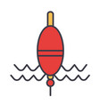 float fishing flat line concept vector image