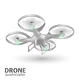 flying drone quadrocopter logo template vector image