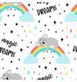 hand drawing koala print design seamless pattern vector image