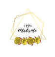 hand drawn doodle style wreath with yellow peony vector image vector image