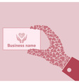 Hand love vector image vector image