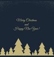 happy christmas postcard vector image vector image