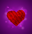 Heart on a purple background vector image vector image