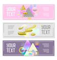 horizontal banners set with gold glitter vector image vector image