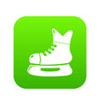 ice hockey skate icon green vector image