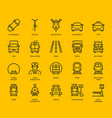 land transport icons vector image