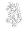 lord ganesha vector image vector image
