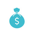 money bag business finance color silhouette vector image