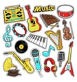 Musical Instruments Stickers Patches Badges vector image vector image
