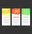 natural fresh juice banner template set with space vector image vector image