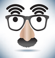 Network Hot Spot Icon Face vector image