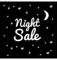 night sale on a black background vector image vector image