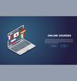 online language courses vector image