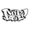 party word in graffiti style text vector image vector image
