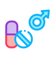 pills man power icon outline vector image