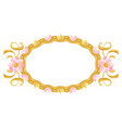 princess frame with hearts and crowns vector image vector image