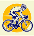 professional cyclist riding a road bike vector image vector image