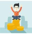 Proud asian businessman vector image