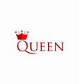 queen template design vector image