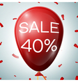Red Baloon with 40 percent discounts SALE concept vector image vector image