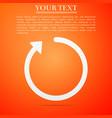 refresh icon isolated on orange background vector image