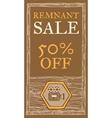 Remnant sale flyer vector image vector image